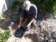 one of our Vacaville irrigation contractors is replacing a valve